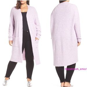 Leith Nordstrom Open MIDI Cardigan Sweater Plus 1X